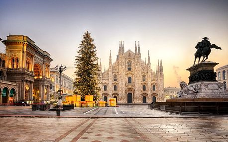 Výlet za památkami a adventními trhy do Milána
