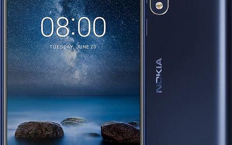 Nokia 8, modrá