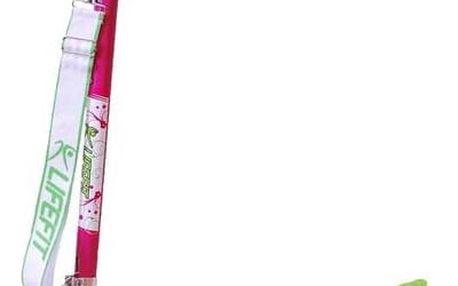 Koloběžka LIFEFIT MONTANA dívčí růžová + Reflexní sada 2 SportTeam (pásek, přívěsek, samolepky) - zelené v hodnotě 58 Kč