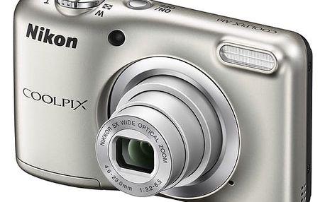 Digitální fotoaparát Nikon Coolpix A10 stříbrný + DOPRAVA ZDARMA