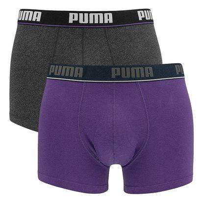 2PACK pánské boxerky Puma purple long M