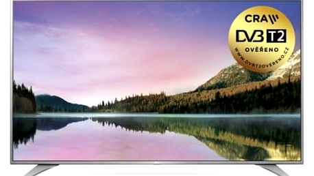 Televize LG 65UH6507 stříbrná/chrom