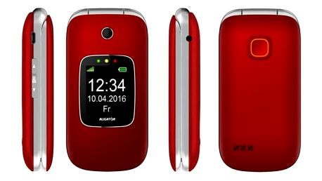 Mobilní telefon Aligator V650 Senior (AV650RS) stříbrný/červený