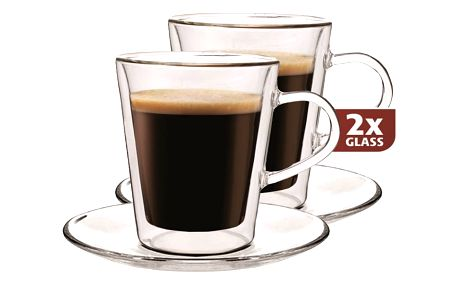 Maxxo Lungo 2dílná sada termo skleniček, 220 ml,