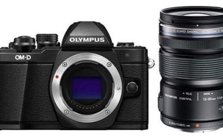 Digitální fotoaparát Olympus E-M10 II 1250 + objektiv 12-50mm 3,5-6,3 (V207050BE010) černý