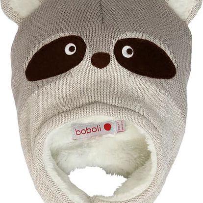 BOBOLI Zimní čepice, vel. XS/46 - hnědá, uni