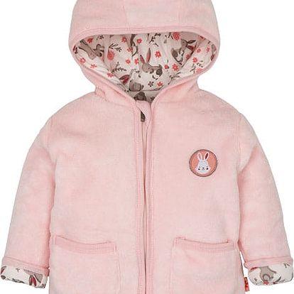 G-MINI Zajíček Kabátek s kapucí chloupek C, vel. 74 – růžová