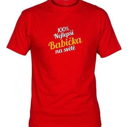 Tričko - Nejlepší babička - červené - XXL