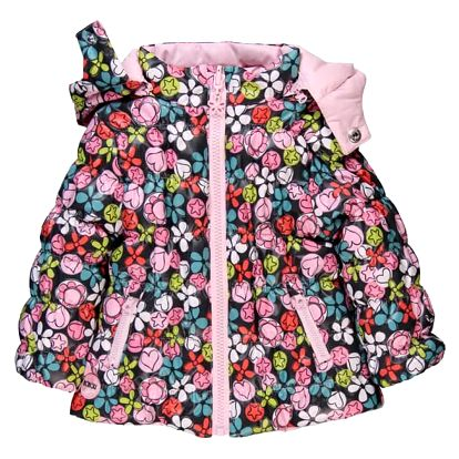 BOBOLI Oboustranná zimní bunda, vel. 74 - růžová/potisk, holka