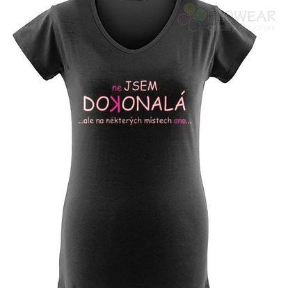 Divja Nejsem dokonalá tričko dámské černé - XL
