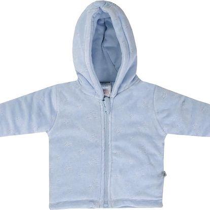 JACKY Zimní kabátek s kapucou LITTLE TEDDY, vel. 62- světle modrá, Kluci