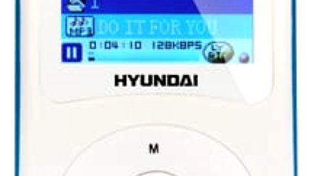 MP3 přehrávač Hyundai MPC 401 FM, 4GB bílý/modrý