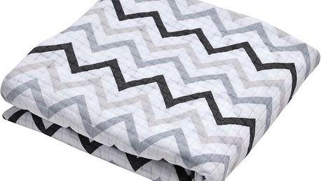 LODGER Šátek na nošení Cocooner - Limited Edition Zig Zag Print Black-White