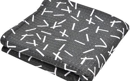 LODGER Šátek na nošení Cocooner - Sprinkle Print Carbon