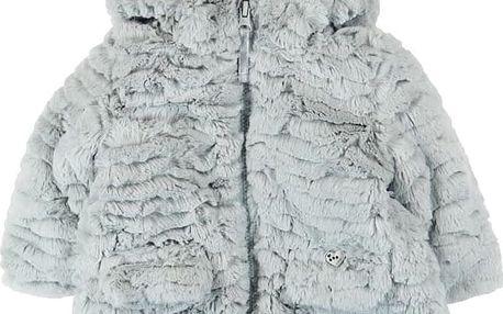 BOBOLI Zimní kožíšek, vel. 86 - stříbrná, holka