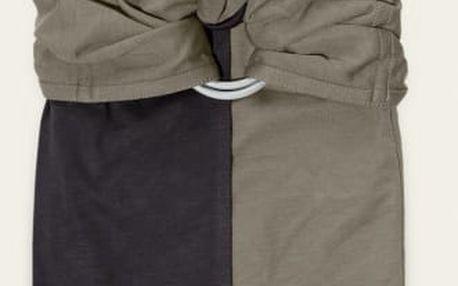 JPMBB Baby šátek bez uzlu – antracitová/olivová