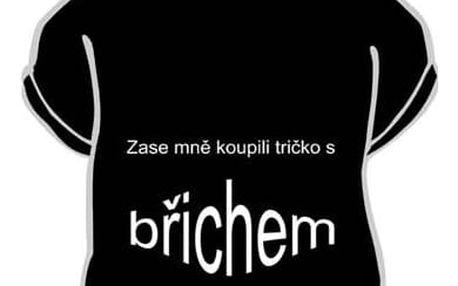 Divja Zase mně koupili tričko s břichem tričko pánské černé - XXL