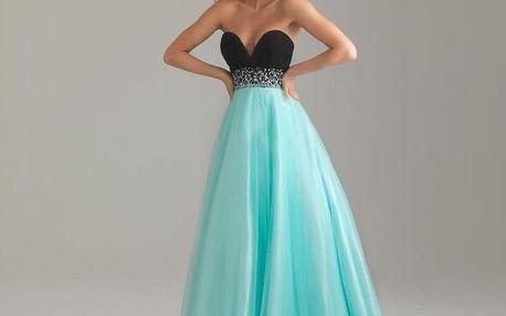 LK shop Plesové šaty Barva: tyrkysová, Velikost: M