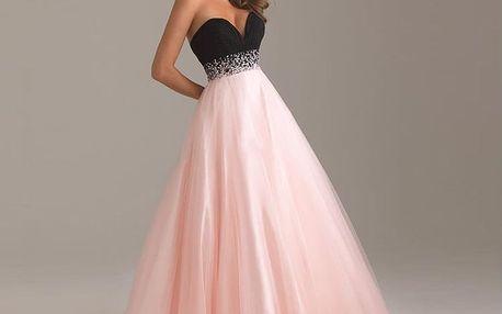 LK shop Plesové šaty Barva: růžová, Velikost: XL