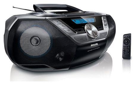 Radiopřijímač s CD Philips AZ780 (AZ780/12) černý + DOPRAVA ZDARMA