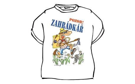 Divja Zahrádkář tričko pánské bílé - L
