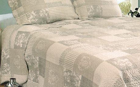 Přehoz na postel Patchwork, 230 x 250 cm, 2x 50 x 70 cm, 230 x 250 cm