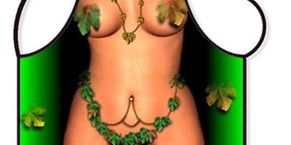 Zástěra - Žena listí