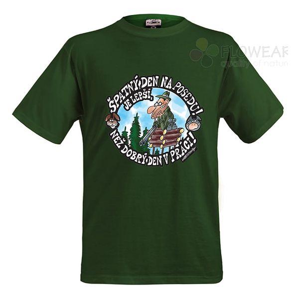 Divja Špatný den na posedu tričko pánské zelené - XL