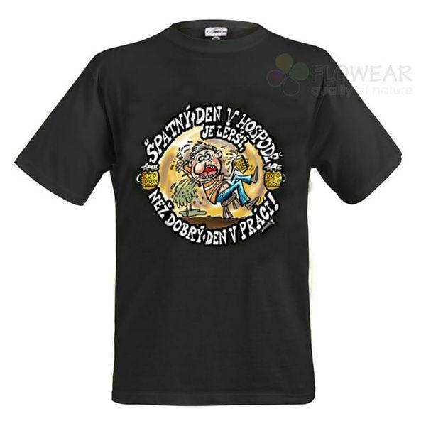 Divja Špatný den v hospodě tričko pánské černé - XL
