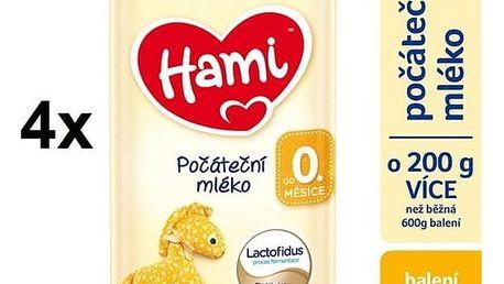 Kojenecké mléko Hami počáteční od ukončeného 0. měsíce, 800g x 4ks + Doprava zdarma