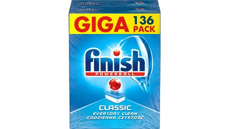 FINISH Classic Regular (2x68 ks) - tablety do myčky