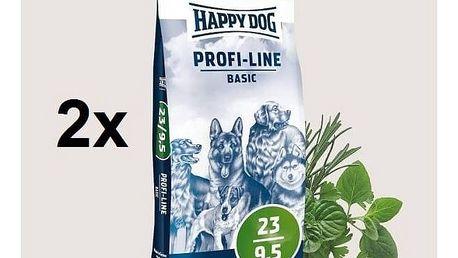 Granule HAPPY DOG Profi-Line BASIC 23/9,5 - 2 x 20 kg + Doprava zdarma