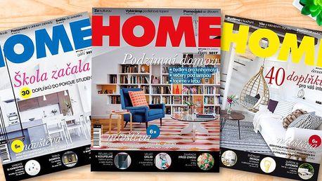 Předplatné časopisu Home byt/dům/styl/zahrada