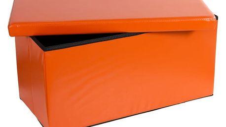STILISTA 30651 Skládací lavice s úložným prostorem - oranžová