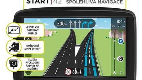 Navigační systém GPS Tomtom START 42 Regional CEE LIFETIME mapy (1AA4.030.01) černá