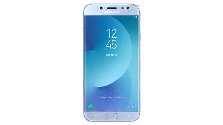 Samsung Galaxy J7 2017 SM-J730 Silver Blue +microSD 32GB, powerbanka a držáka do auta
