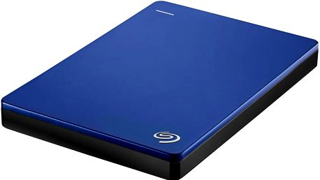 Seagate BackUp Plus Slim Portable 1TB, modrá - STDR1000202 + Seagate Backup Plus Slim bumper na externí disk