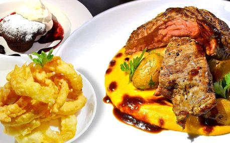 Chuť Ameriky: 3chodové degustační menu pro dva