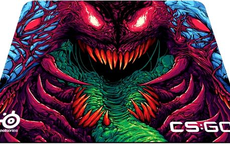 SteelSeries QcK+ CS:GO Hyper Beast, látková - 63800
