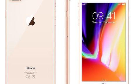 Mobilní telefon Apple iPhone 8 Plus 64 GB - Gold (MQ8N2CN/A) Software F-Secure SAFE 6 měsíců pro 3 zařízení v hodnotě 979 Kč + DOPRAVA ZDARMA