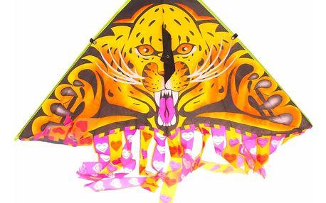 Létající drak o rozměrech 90 × 50 cm s třásněmi