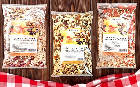 Namíchejte si zdravou snídani z chutných směsí olejnatých semen a ovoce