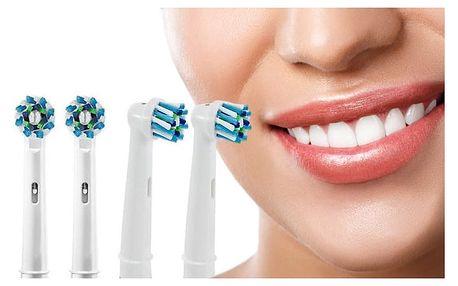 4 ks profesionálně navržených náhradních hlavic pro elektrické zubní kartáčky Braun Oral-B