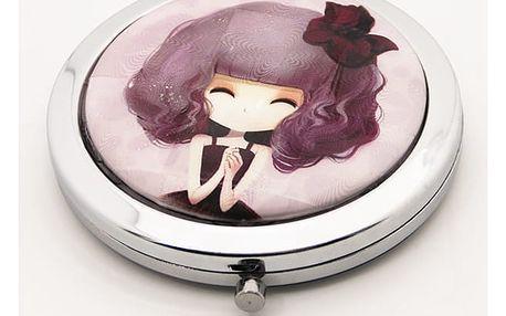 Kapesní kosmetické zrcátko Dolls fialové