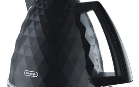 Rychlovarná konvice DeLonghi Brillante KBJ2001BK černý