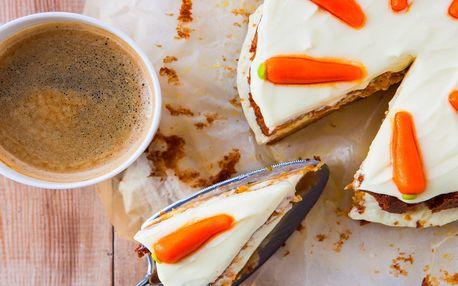 Espresso nebo čokoláda + dezert i bez lepku