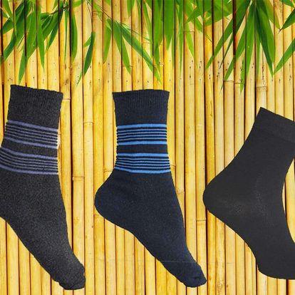 Kvalitní pánské i dámské bambusové ponožky, 6 a 12 párů
