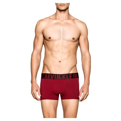 Calvin Klein vínové pánské boxerky Trunk