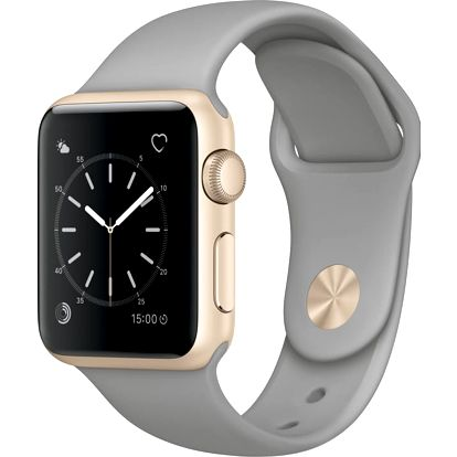 Apple Watch 38mm Gold Aluminium Case with Concrete Sport Band - MNNJ2CN/A