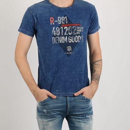 Tričko Replay INDIGO JERSEY Modrá